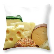 Cheese Slices Throw Pillow