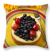 Cheesecake With Fruit Throw Pillow