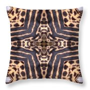 Cheetah Cross Throw Pillow