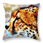 Cheetah IIi Throw Pillow