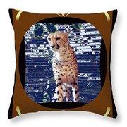 Cheetah Lean And Mean Throw Pillow