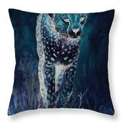 Cheetah Running Throw Pillow