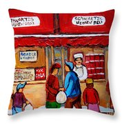 Chef In The Window Throw Pillow