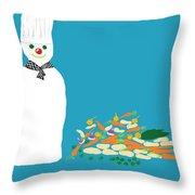 Chef Snowman Throw Pillow