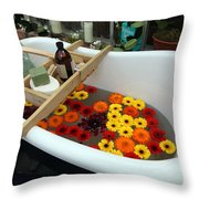 Chelsea Flower Show Bath Throw Pillow