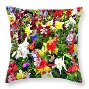 Chelsea Flower Show Throw Pillow