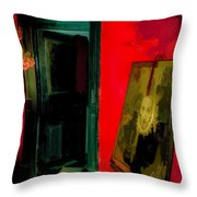 Chelsea Hotel Abstract Throw Pillow
