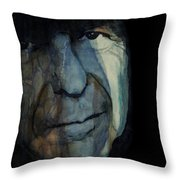 Chelsea Hotel - Leonard Cohen  Throw Pillow