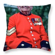 Chelsea Pensioner Throw Pillow
