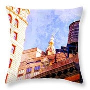 Chelsea Water Tower Throw Pillow