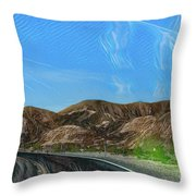 Chem Trails Valley Of Fire  Throw Pillow