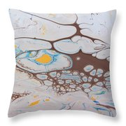 Chemical Reaction In Yo Mama Throw Pillow