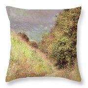 Chemin De La Cavee Pourville Throw Pillow