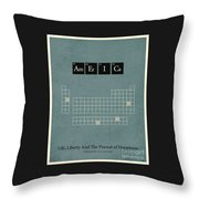 Chemistry Of A Nation Throw Pillow