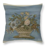 Chenille Embroidery Throw Pillow