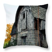 Chequamegon National Forest Barn Portrait Throw Pillow