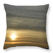 Chequered Sky Throw Pillow
