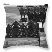 Cherb Benches Throw Pillow