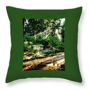 Cherie's Garden Throw Pillow