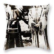 Cherokee Indian Couple Throw Pillow