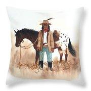 Cherokee Lighthorse Throw Pillow