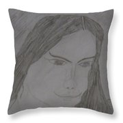 Cherokee Woman Throw Pillow