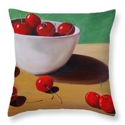 Cherries Overboard Throw Pillow