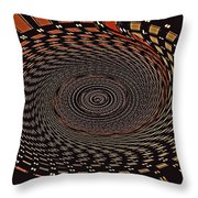 Cherry Basket Weaving Abstract Throw Pillow