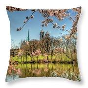 Cherry Blossom Branch Brook Park, Newark, Nj  Throw Pillow