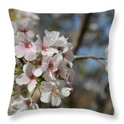 Cherry Blossom Cluster Throw Pillow