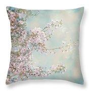 Cherry Blossom Dreams Throw Pillow