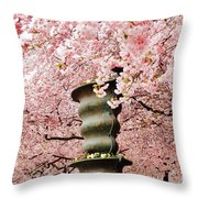 Cherry Blossom In Stockholm Throw Pillow