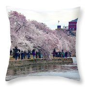 Cherry Blossom In Washington D C Throw Pillow