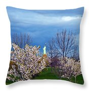 Cherry Blossom Liberatum Throw Pillow