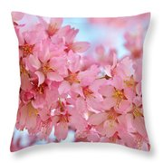 Cherry Blossom Pastel Throw Pillow