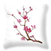 Cherry Blossoms 2f Throw Pillow