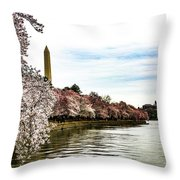 Cherry Blossoms In Bloom Throw Pillow