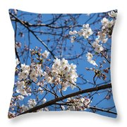 Cherry Blossoms In Hiroshima Throw Pillow