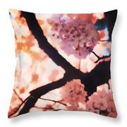 Cherry Blossoms In Washington D.c. Throw Pillow