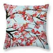 Cherry Blossoms V 201631 Throw Pillow