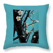 Cherry Branch Throw Pillow