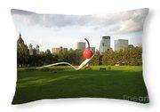 Cherry Bridge Sculpture Throw Pillow