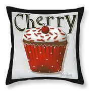 Cherry Celebration Throw Pillow by Catherine Holman