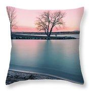 Cherry Creek Sunrise Throw Pillow