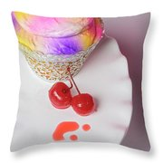 Cherry Cupcake Throw Pillow