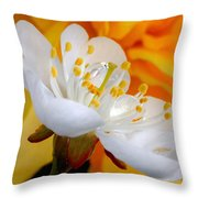 Cherry Flower In The Spring, In Profile Throw Pillow
