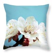 Apricot Flowers IIi Throw Pillow