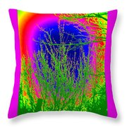 Cherry Rainbow Throw Pillow