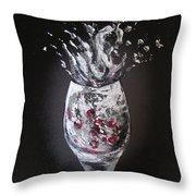 Cherry Splash Throw Pillow
