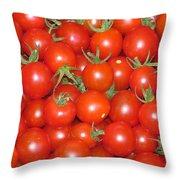Cherry Tomato Harvest Throw Pillow